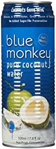 Blue Monkey Coconut Collection 100% Coconut Water - Original - 17.6 oz - 24 ct