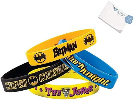 Rubber Batman Bracelets (With Sticky Notes)
