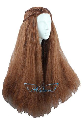 Angelaicos Women's 70cm Lolita Fluffy Wavy Party Sexy Hair Full Wig Long (Brown) (Star Long Wavy Wig)