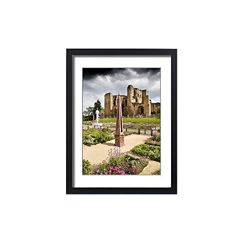 Framed 24x18 Print of Kenilworth Castle Elizabethan Garden N090442 (1991311)