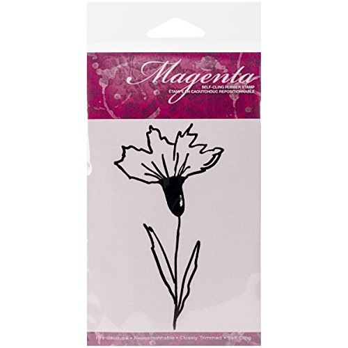 Magenta Cling Stamps, 4.25 by 2.5-Inch, Doodle ()