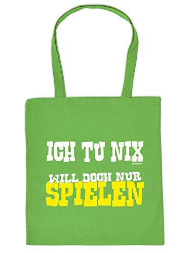 ICH TU NIX .. :Tote Bag Henkeltasche Beutel mit Aufdruck. Tragetasche, Must-have, Stofftasche,Geschenkidee