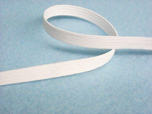 Wholesale Flat Braided Elastic 1040 - White 1/4