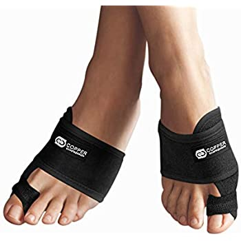 Copper Compression Bunion Corrector Toe Splints. Bunion Relief Brace and Toe Straightener. Big Toe, Hammer Toes Splint for Men Women. 1 Pair.