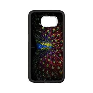 Vintage Collage Peacock Samsung Galaxy S6 Cell Phone Case White