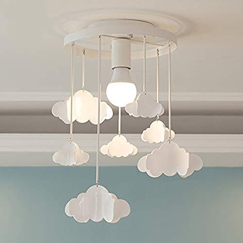 HELIn Morden LED Pendant Lights, Creative Cloud Shade Ceiling Lamps with Hanging Clouds E27 110V for Children's Room Living Room, Bedrooms, Best Gift for Children, Kids White