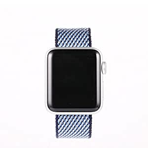 Sport Style Replacement Nylon Multicolors Band for Apple Watch 38/42mm,Lightweight Breathable Wrist Strap Nike+ with Clasp & Adapters for iWatch Series (Cadetblue, 42mm)