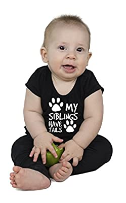 My Siblings Have Tails | Funny Baby Girl Boy Unisex Onesie Novelty Bodysuit