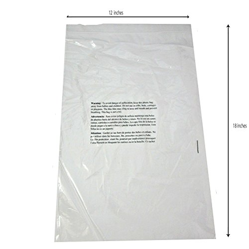Suffocation Warning Poly Bag, 1.5ml Self-sealed, 200 Count 12x18 free shipping