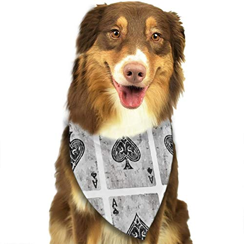 - MODREACH Bandana-Washable and Adjustable Pet Triangle Scarf Bibs Vintage Ace of Spades Card Poker Lover Accessories for Small Medium Large Dogs/Cats