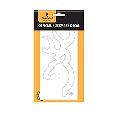 Browning Buckmark Decal | White: Sports & Outdoors