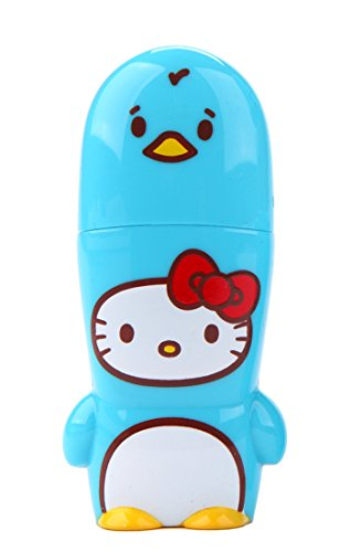 16GB Blue Penguin Hello Kitty Loves Animals x MIMOBOT Designer USB Flash Drive with bonus preloaded Mimory content, Limited Edition by Mimoco