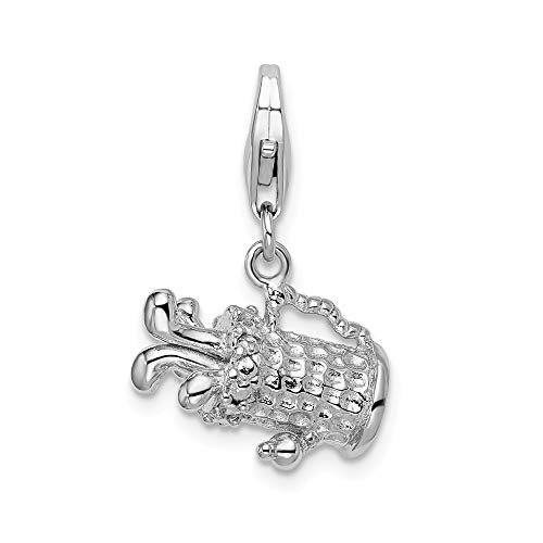 925 Sterling Silver Rh 3d Golf Bag Lobster Clasp Pendant Charm Necklace Sport Fine Jewelry Gifts For Women For Her
