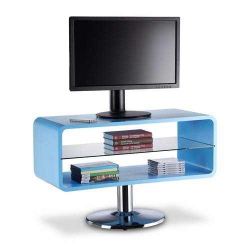 (Relaxdays Retro TV Stand, Narrow Wooden Lowboard in Cube Design, TV Armoire, HWD 52 x 81 x 40 cm,)