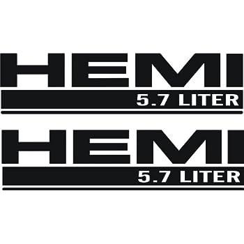 Amazon Com Dodge Ram Black Hemi 5 7 Liter Emblem