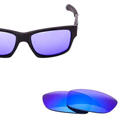 LenzFlip Lens Replacement for Oakley JUPITER SQUARED Sunglass, Gray Polarized with Blue Mirror - Polarized Oakleys Cheap