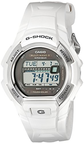 G-Shock GWM850-7CR Men's Tough Solar Atomic White Resin Sport (Casio Atomic Solar G-shock)