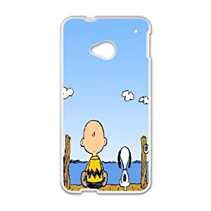 HTC One M7 Phone Case Charlie Brown and Snoopy T8T92894