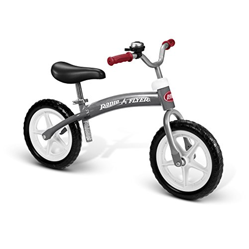 - Radio Flyer Balance Bike Glide and Go, Gray