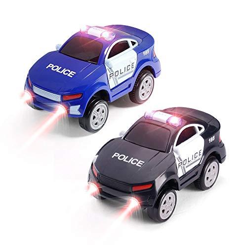 Aole Car Toys, 2 Pcs Electronic Police Car