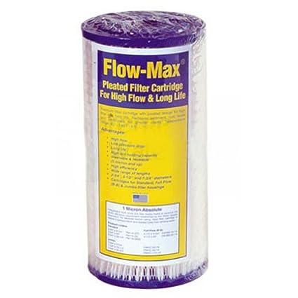 """Watts FM-BB-10-1 Flow-Max Full Flow 1 Micron 10"""" Pleated Big Blue Filter"""