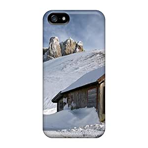 Tpu Case Cover Compatible For Iphone 5/5s/ Hot Case/ Wood Cottage