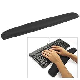 TRIXES Gel Wrist Rest Support Pad Keyboard & Mouse Pad Set Black