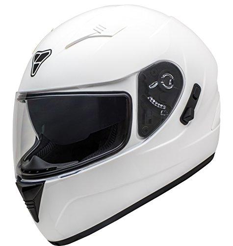 (Pilot Motosport ST-17 Helmet Unisex-Adult Full-Face-style Helmet (White, Large))