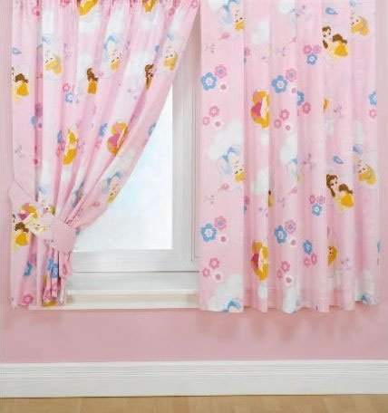 Kids/Childrens Disney Princess Curtains (66 X 72 Inch (170cm X 183cm)