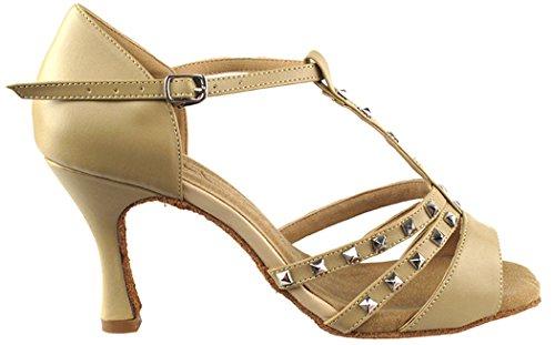 Very Fine Shoes Salsera Series SERA7012 3 Heel Tan Leather UAxyL