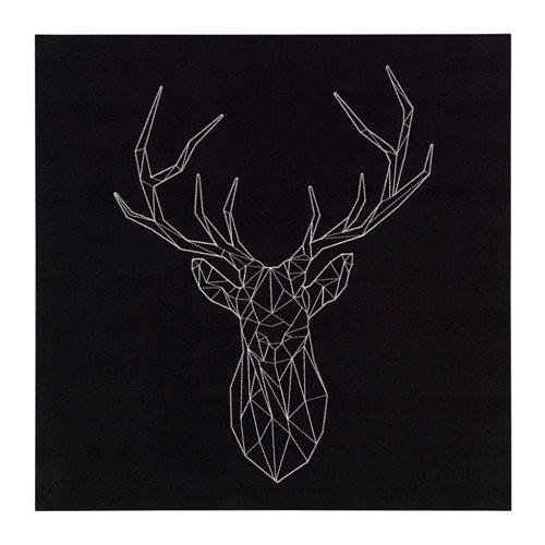 Ikea Picture, silver deer 22x22