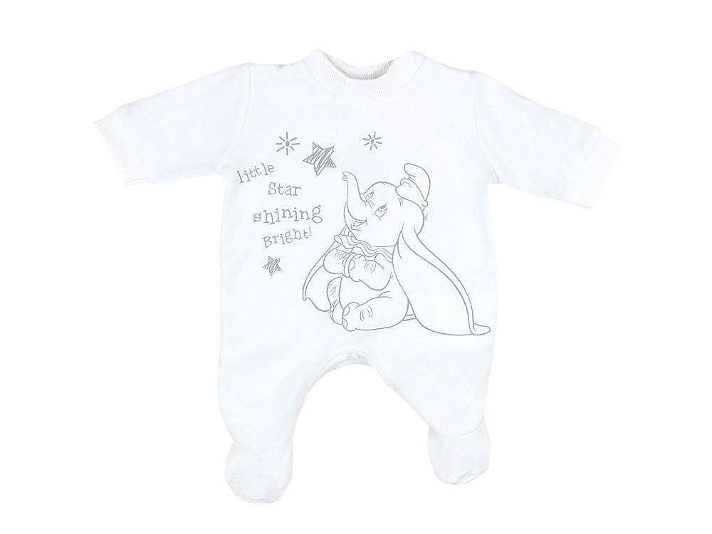 Disney - Dumbo Erstlingsoutfit, Babystrampler mit Dumbomotiv Grösse 44-50-56-62-68-74 für Frühchen Neugeborene