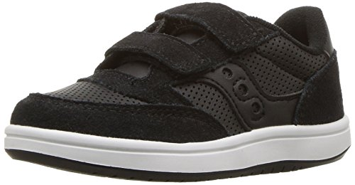 Saucony Baby Jazz Court Sneaker, Black, 10 Wide US Toddler (Saucony Boy Toddler Shoes)