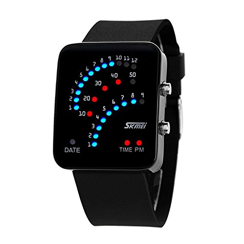 Carrie Hughes Technological Sense Binary Digital Led Waterproof Unisex Sport Watch Ch187