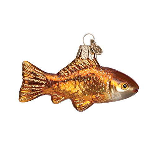 Old World Christmas Goldfish Glass Blown Ornament