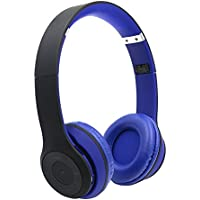STN-019 Bluetooth Foldable Wireless Stereo Headphone Headset Earphone Support TF card for Cell Phone(Black+blue)