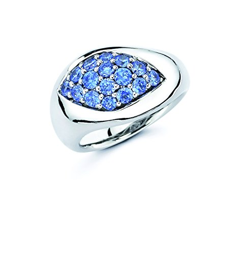 UPC 852664615515, Lotopia Marquise Ring in Sterling Silver with Ocean Blue Swarovski Zirchonia