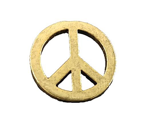 Creative Pewter Designs Peace Sign Symbol 22k Gold Plated Lapel Pin, Brooch, Jewelry, AG248