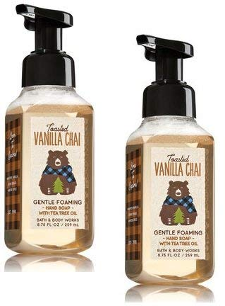 Hand Soap Warm Vanilla Sugar (Bath and Body Works 2 Pack Toasted Vanilla Chai Gentle Foaming Hand Soap. 8.75 Oz.)
