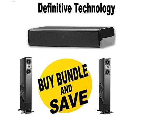 (1 Pair) Definitive Technology BP-8060ST + Definitive Technology CS-8040HD Speaker (Center) Bundle