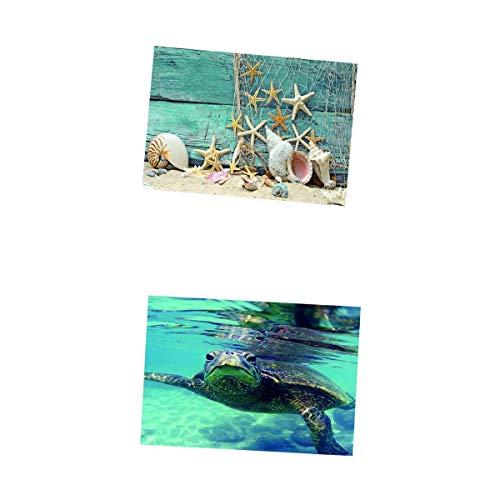 MagiDeal 2 Piezas De Acuario De Tanques De Pescado Adhesivo De Una Cara Adhesivo De Fondo Adhesivo Estrella De Mar/Foto De...