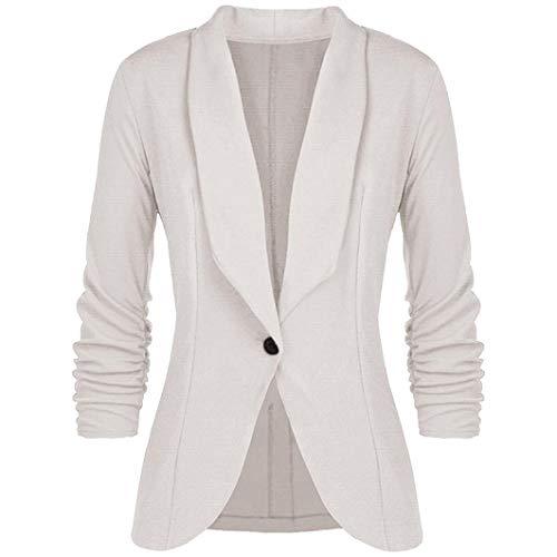 16af26fec9e25 La Profesional Mujer De Blazer Deelin Blanco Mangas Cuello Elegante  Chaqueta Estilo Ol Tres Moda Delgada w4dI1Bq