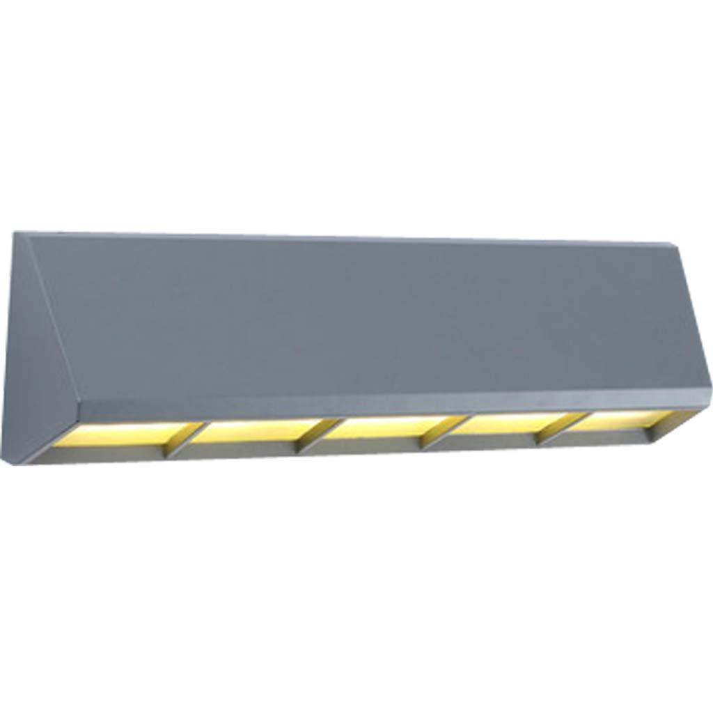 防水パネルウォールランタン、ブラックキューブLED屋外ウォールランプ防水屋内装飾壁ランプ (色 : 黒) B07KBPJ12J Gray  Gray