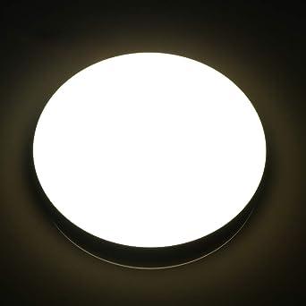 Lamker Plafones 18W Plafón baño LED Iluminación de Techo para Moderna Oficina de La Cocina Comedor de Pasillo Balcón Piso Salón Cuarto de Baño Lámpara ...