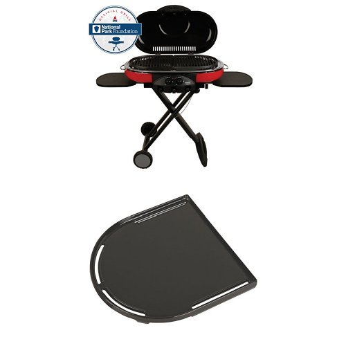 Coleman 9949-750 Road Trip Grill LXE and Coleman RoadTrip Swaptop Cast Iron Griddle