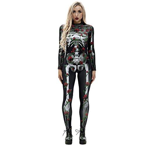 Halloween?Horror?Nights?2019?Costumes?for?Women?3D?Skeleton?Cosplay?Jumpsuit?Bodysuit(S, ()