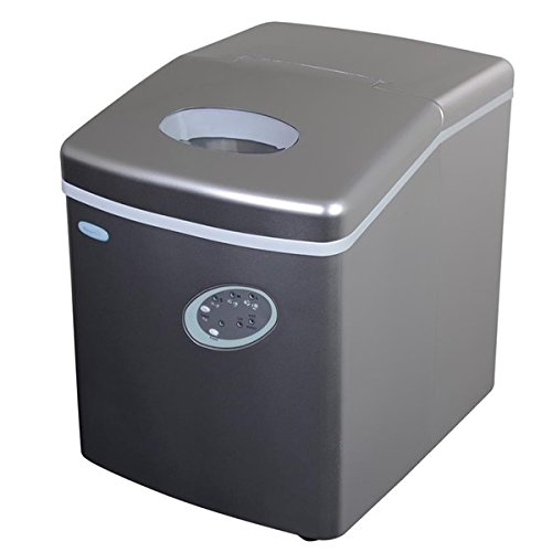 NewAir Appliance Solid Glass Silver Portable Ice Maker