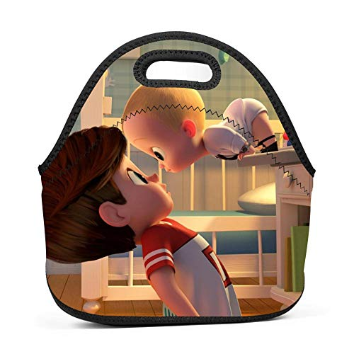 BLKDA25B Resistant Portable Lunch Bag Baby Boss Carry Case Tote Zipper Strap Box Cooler Container Bags Picnic Outdoor Travel Fashionable Handbag Pouch Women Men Kids Girls by BLKDA25B (Image #3)