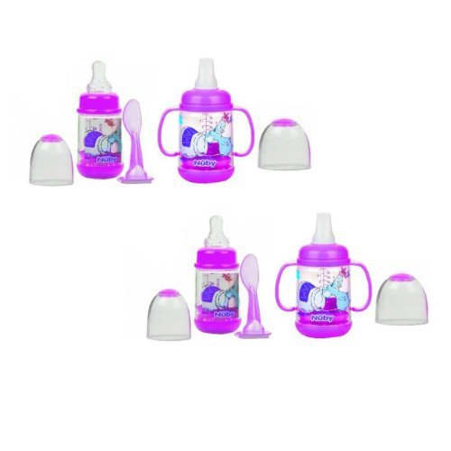 Nuby Infant Printed Bottle Feeder