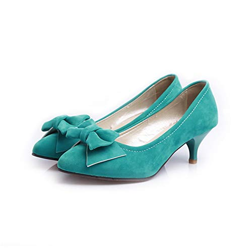 Bows Jane Solid APL10619 BalaMasa Shoes Urethane Mary Womens Blue Pumps wICvRT